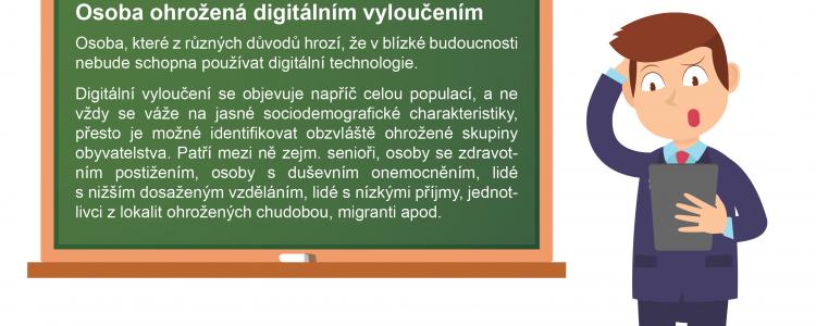 DigiSlovník:  Osoba ohrožená digitálním vyloučením