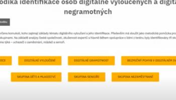 Videoprůvodce - Metodika identifikace osob digitálně vyloučených a digitálně negramotných